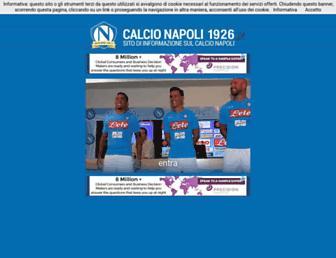 Main page screenshot of calcionapoli1926.it