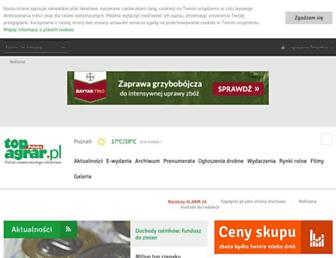 Main page screenshot of topagrar.pl