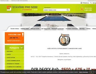 Main page screenshot of stavimeprosebe.cz
