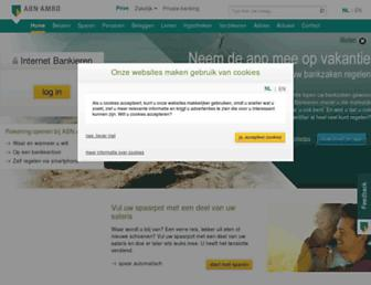 Main page screenshot of abnamro.nl