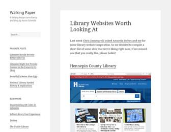 Main page screenshot of walkingpaper.org