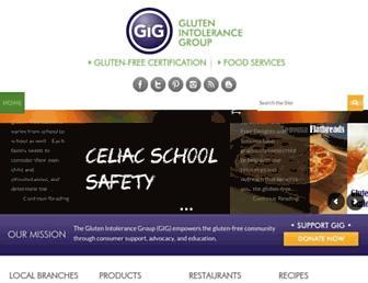 Main page screenshot of gluten.net