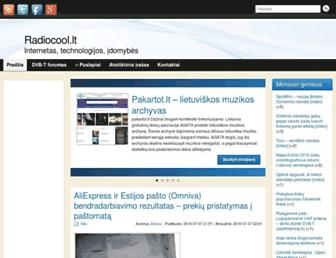 Main page screenshot of radiocool.lt