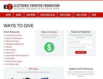 supporters.eff.org screenshot