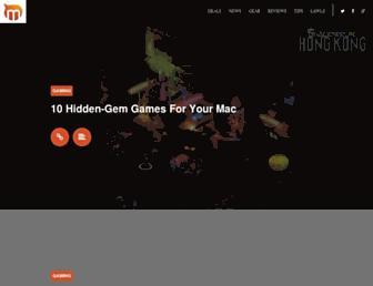 Main page screenshot of macgasm.net