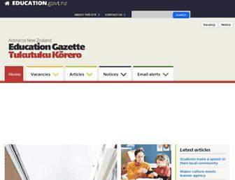 gazette.education.govt.nz screenshot