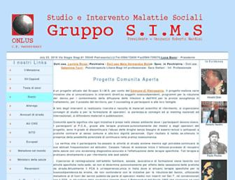 Main page screenshot of sims.it