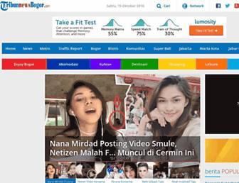 bogor.tribunnews.com screenshot