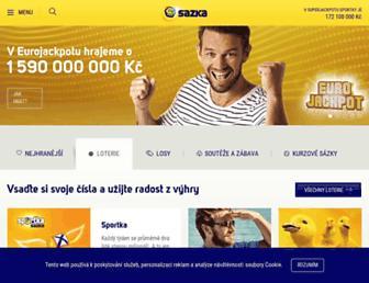 Thumbshot of Sazka.cz