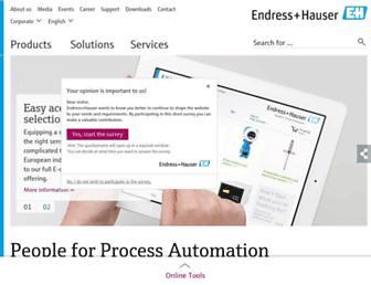 Thumbshot of Endress.com