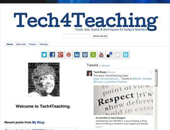 Main page screenshot of tech4teaching.org