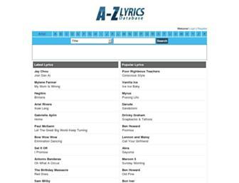 azlyricdb.com screenshot