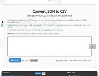 json-csv.com screenshot