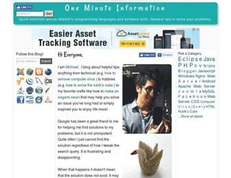 oneminuteinfo.com screenshot