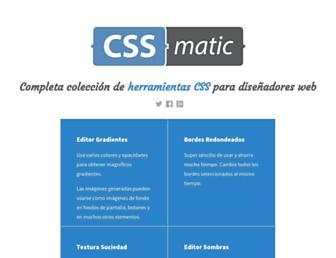 Thumbshot of Cssmatic.com