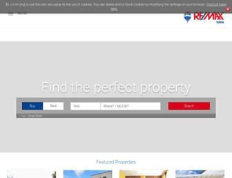 Main page screenshot of remax.it