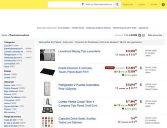 electrodomesticos.mercadolibre.com.mx screenshot