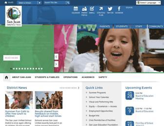 sanjuan.edu screenshot