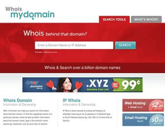 Thumbshot of Whoismydomain.com.au