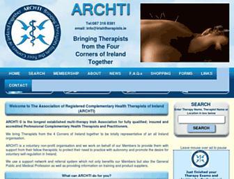 irishtherapists.ie screenshot