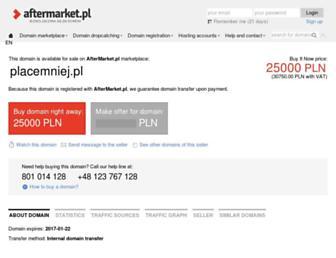 Main page screenshot of placemniej.pl