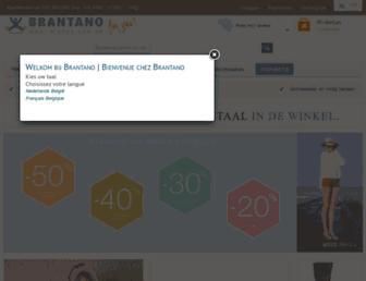 Main page screenshot of brantano.be