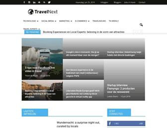 Main page screenshot of travelnext.nl