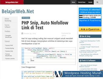 belajarweb.net screenshot