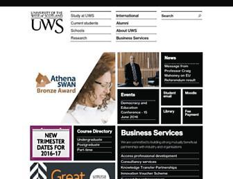 uws.ac.uk screenshot