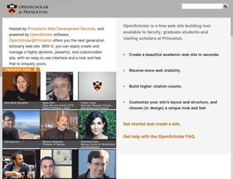 scholar.princeton.edu screenshot