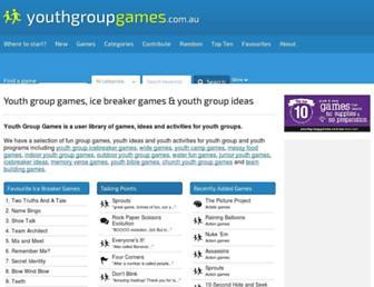 youthgroupgames.com.au screenshot