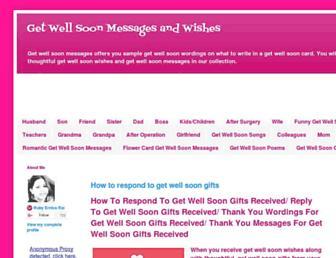 getwellsoonmessage.blogspot.com screenshot