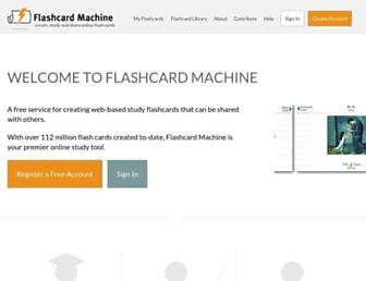 Thumbshot of Flashcardmachine.com