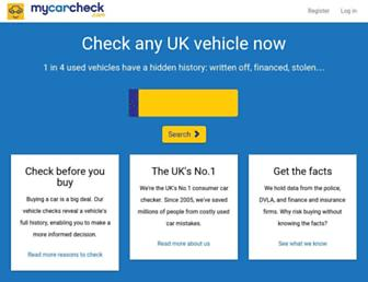 Thumbshot of Mycarcheck.com