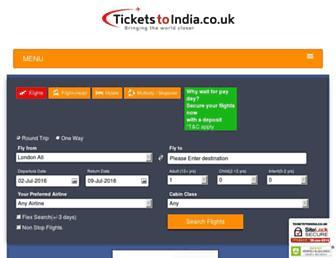 Thumbshot of Ticketstoindia.co.uk