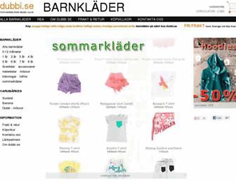 Main page screenshot of dubbi.se