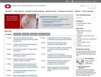 bis.org screenshot