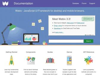 docs.webix.com screenshot