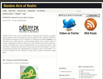 Main page screenshot of shafiq.pk
