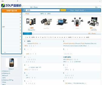 Main page screenshot of detail.zol.com.cn