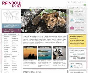 Main page screenshot of rainbowtours.co.uk
