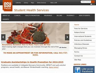 studenthealth.oregonstate.edu screenshot