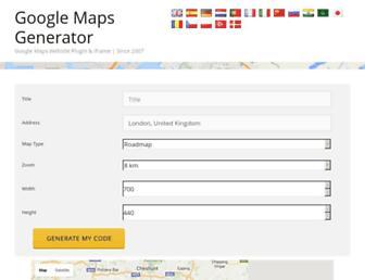 googlemapsgenerator.com screenshot