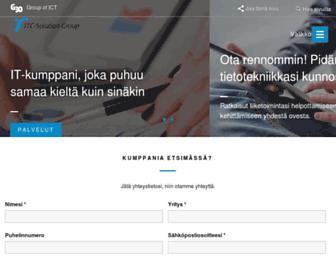 Main page screenshot of itc-solution.fi