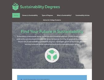 sustainabilitydegrees.com screenshot