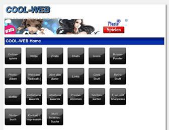 Main page screenshot of cool-web.de