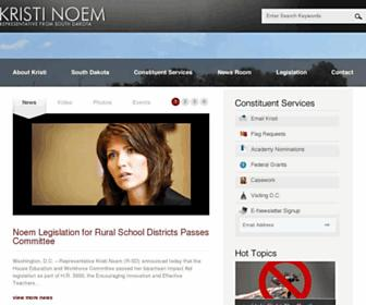 Main page screenshot of noem.house.gov