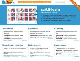Thumbshot of Scikit-learn.org