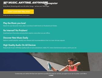 gb.napster.com screenshot
