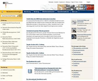 Main page screenshot of bundesarchiv.de